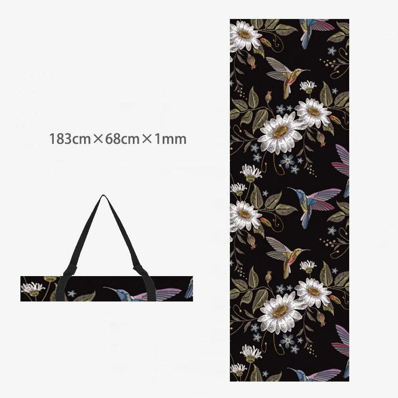 Printed Yoga Towel Non Slip Blanket Absorb Mat Cover Towel Pilates Fitness 5