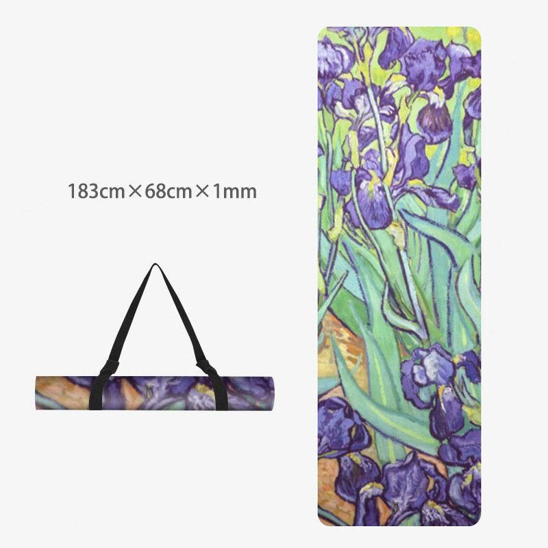 Printed Yoga Towel Non Slip Blanket Absorb Mat Cover Towel Pilates Fitness 6