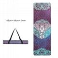 Printed Yoga Towel Non Slip Blanket Absorb Mat Cover Towel Pilates Fitness