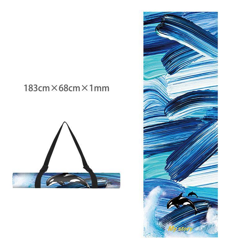 Printed Yoga Towel Non Slip Blanket Absorb Mat Cover Towel Pilates Fitness 9