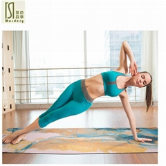 1830*650*3.5mm Natural Rubber Suede Yoga Mat for Outdoor Non SlipGym