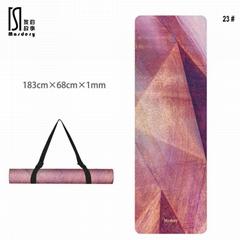 Suede Yoga Mat Non-slip Quick-Drying Printed Carpet