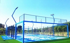 Curled Artificial grass Panoramic Padel Court Manufacturer from China