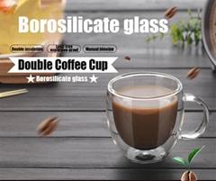 High Borosilicate Double Wall Glass Coffee Cups Glass Tea Mugs