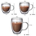 High Borosilicate Double Wall Glass Coffee Cups Glass Tea Mugs 2
