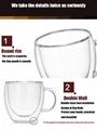 High Borosilicate Double Wall Glass Coffee Cups Glass Tea Mugs 3