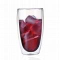 80 ml 250 ml 350 ml 450 ml 650 ml Double wall borosilicate crystal rose shape ca 4