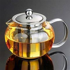 Ball Shaped Glass Teapot