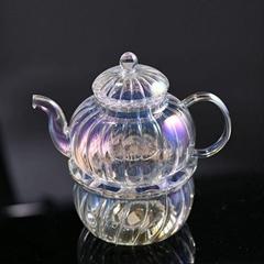 Shining Effect Glass Teapot