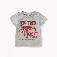 Children's cartoon dinosaur T-shirt