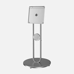 WH3001 Swivel Flip Metal Mobile Floor TV Stand