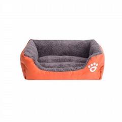 Wholesale Custom Luxury Soft Plush Warm Square Pet Bed Cushion Sofa Cat Dog Bed
