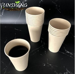 Compostable Disposable Paper Cup for Coffee with Lid