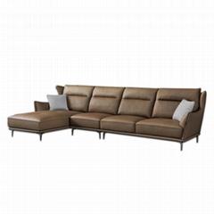 High back modern leather  sofa