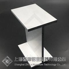 工字铝定制木纹转印H型铝加工铝合金工字梁框架立柱开模铝型材