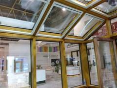 铝木复合型材 铝木门窗 阳光房