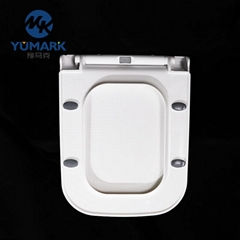 Europe style square shape open front toilet seat cover