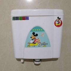 New fashion wall hung plastic cistern two flush toilet water tank
