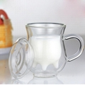 Cow Udder Shape Double Wall Glass Milk Cup Double Layer Glass Mug For Milk 3