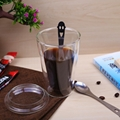 450ml/15 oz Straight Double Wall Glass Coffee Mugs With Logo Customized 2