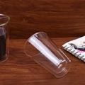 450ml/15 oz Straight Double Wall Glass Coffee Mugs With Logo Customized 4
