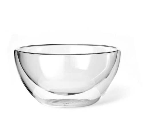 Best Selling Hand Made Borosilicate Clear Double Wall Glass Bowl Salad Bowl  2