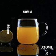 High Quality Durable Using Eco Friendly Glass Cups Coffee Cup Mug