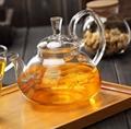 Glass Teapot Transparent Coffee Pot Borosilicate Glass Coffee Tea Set  1