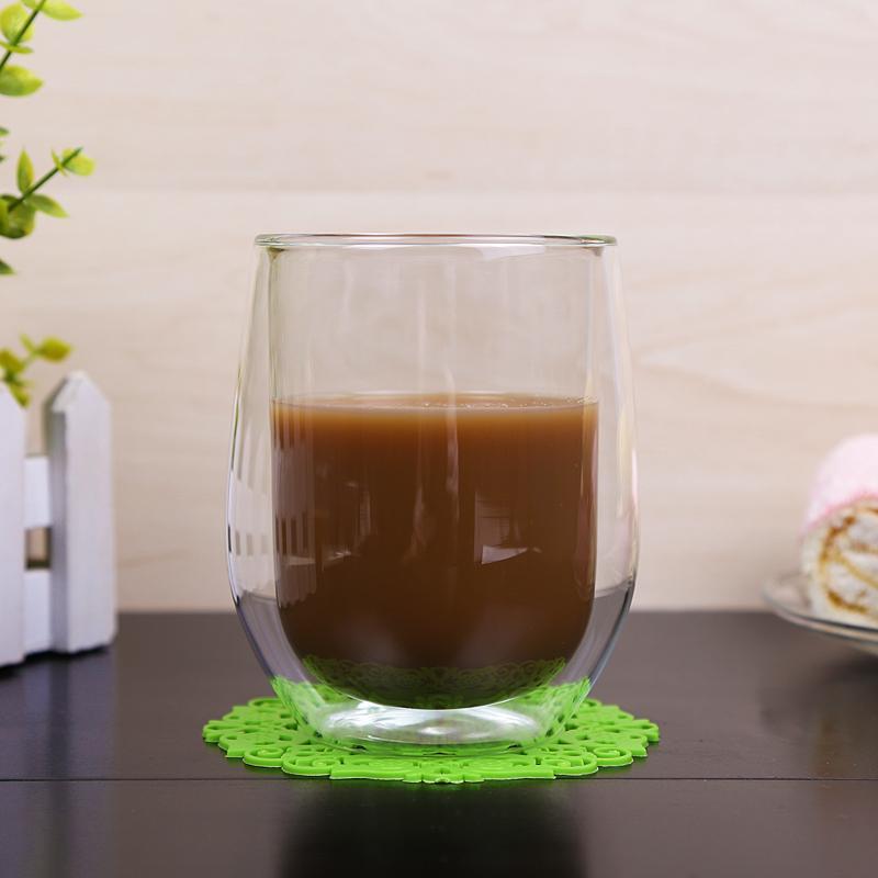 Pyrex Egg Shape Double Walled Glass Cup Mug Bodum Espresso Glass Drink Cup 1