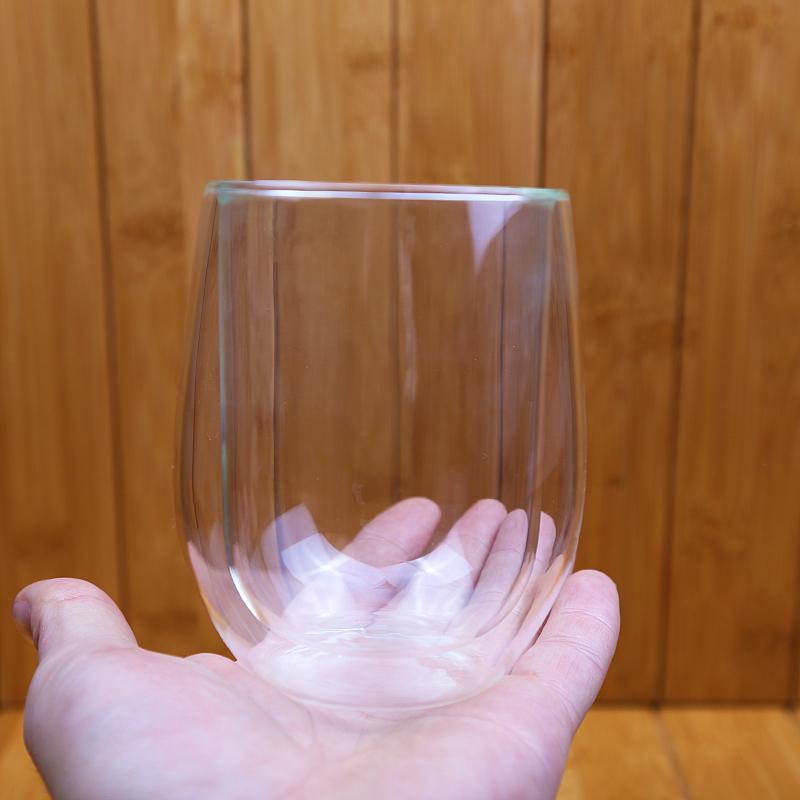 Pyrex Egg Shape Double Walled Glass Cup Mug Bodum Espresso Glass Drink Cup 2
