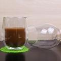 Pyrex Egg Shape Double Walled Glass Cup Mug Bodum Espresso Glass Drink Cup 4
