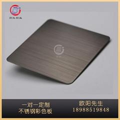 不锈钢板定做304黑钛板拉丝不锈钢高比彩色316不锈钢加工定制