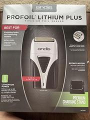 Andis ProFoil Lithium Plus Titanium Foil Shaver, New TS2 Model Dual V 120V/240V