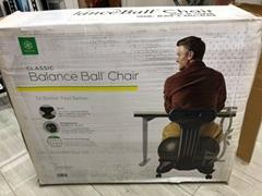 Gaiam Classic Balance Ball Chair – Exercise Stability Yoga Ball Premium Ergono