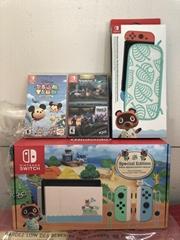 Nintendo Switch Animal Crossing Special Edition W/ 2 Games Bundle & Case