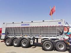 履帶式輸送帶卸貨車,平移式傳送帶卸貨車,自卸半挂車
