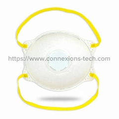 Cup-Type Filter Mask with Va  e (Head-Belt Style)