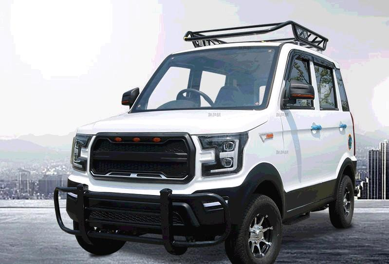 Electric four-wheeled vehicle, new energy electric vehicle, adult petrol-electri