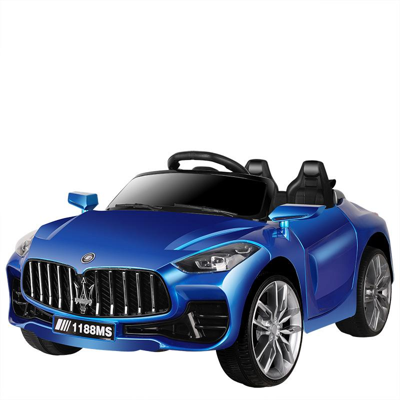 Children's electric car four-wheel dual-drive electric car can sit on people toy 2