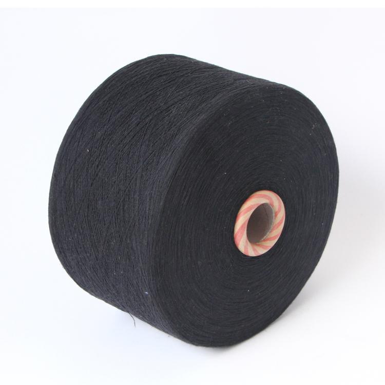 Keshu Ne 6/1 Black dyed recycled Bended knitting yarn for working glove yarn 1