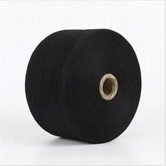 Keshu black Color custom Ne8s/1 oe low twist recycled cotton yarn for gloves