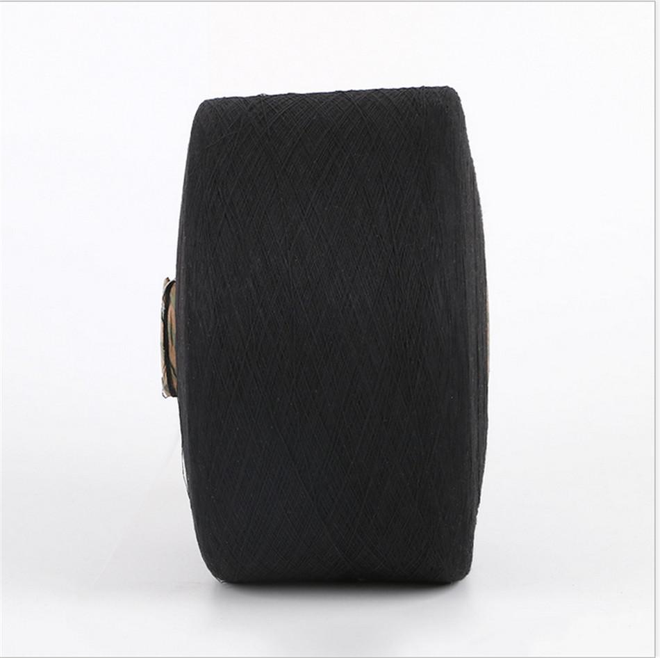 Keshu black Color custom Ne8s/1 oe low twist recycled cotton yarn for gloves 3