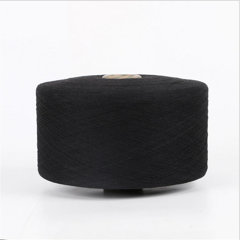 Keshu black Color custom Ne8s/1 oe low twist recycled cotton yarn for gloves 4