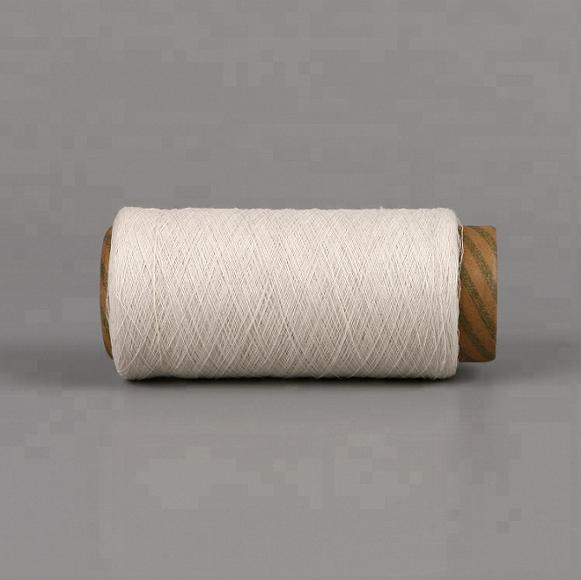 Keshu recycled polyester cotton 70/30 yarn raw white NE6S gloves yarn 1