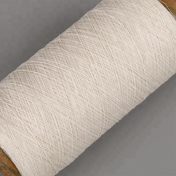 Keshu recycled polyester cotton 70/30 yarn raw white NE6S gloves yarn 5