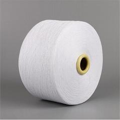 Keshu China manufacture bleached white yarn dyed  NE6/1 knitting gloves yarn