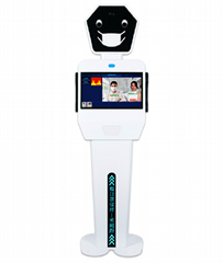 Face Recognition&Thermal Imaging Temperature Measuring Robot