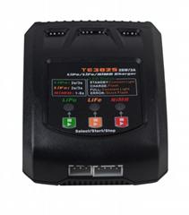 航模充電器TE3025 25W 3A 7.4V 11.1V 鎳氫鋰電池簡易平衡充電器