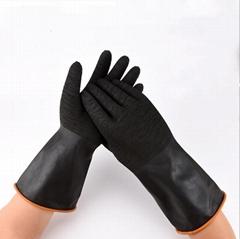 Heavy Duty Anti-oil Waterproof Industrial PVC Nitrile Rubber Latex Gloves