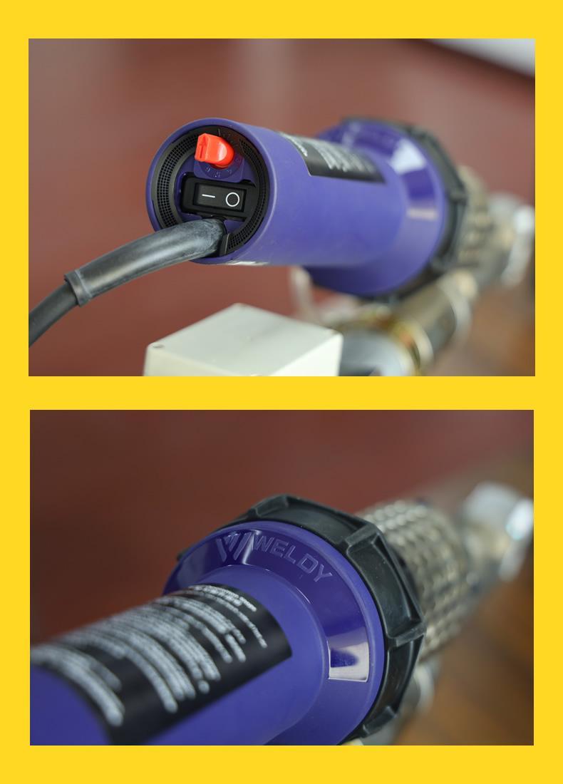 塑料擠出式焊槍PE/PP/PVC手提式熱風熱熔塑料焊機WP40H焊槍3400W 4
